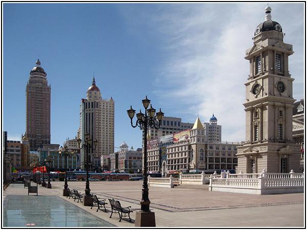 Маньчжурия — китайский город с европейской архитектурой