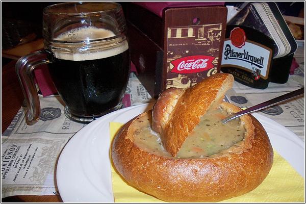 Чешский суп в хлебе
