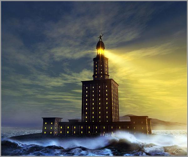 Сигнальный свет Александрийского маяка