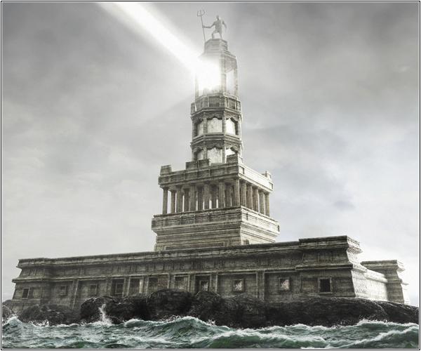 Сжигающий свет Александрийского маяка