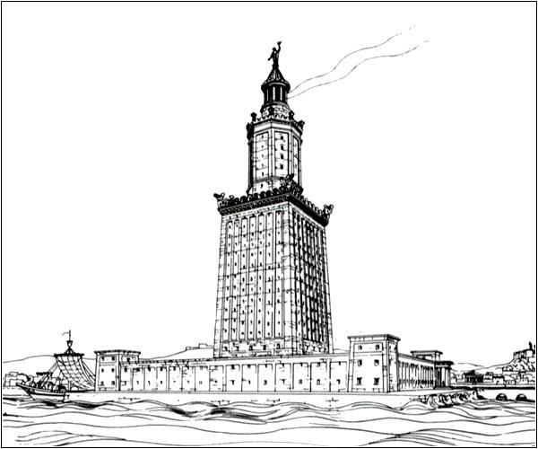 Александрийский маяк — одно из семи чудес света