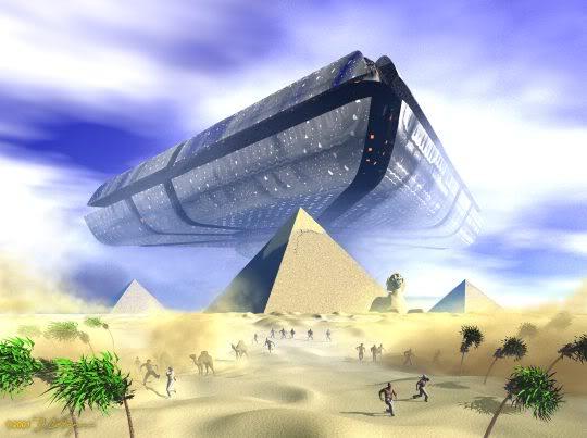 НЛО над пирамидой