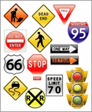 Дорожные знаки на английском языке