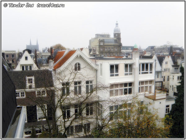 Вид из окна Amsterdam Downtown Hotel