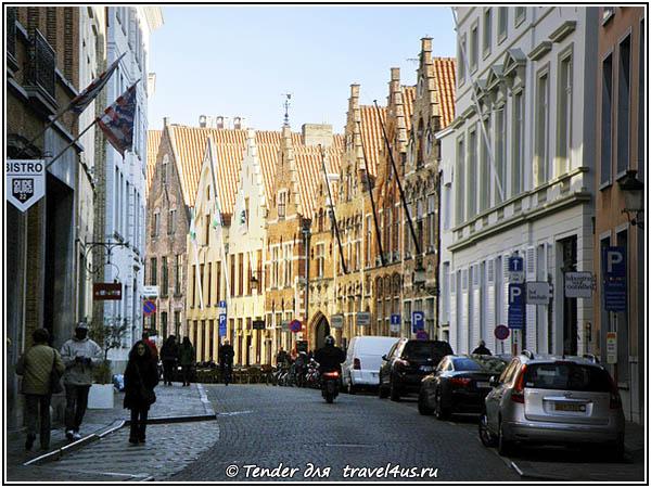 Бельгия. Улицы Брюгге.