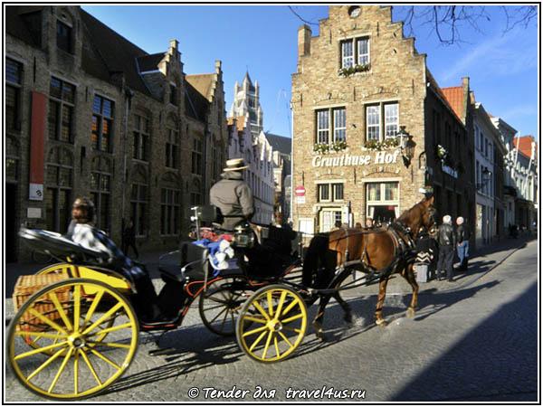 Бельгия. На карете по Брюгге.