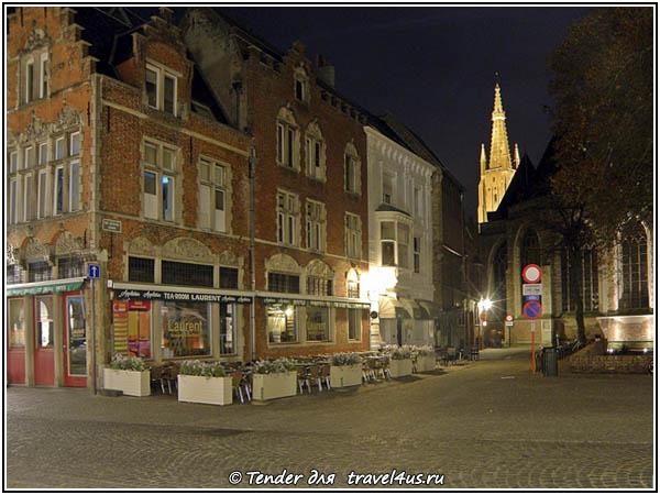 Бельгия. Ночной Брюгге.