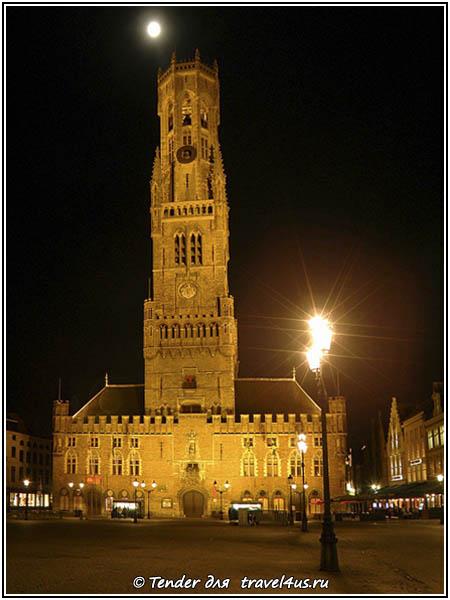 Бельгия. Вечерний Брюгге.