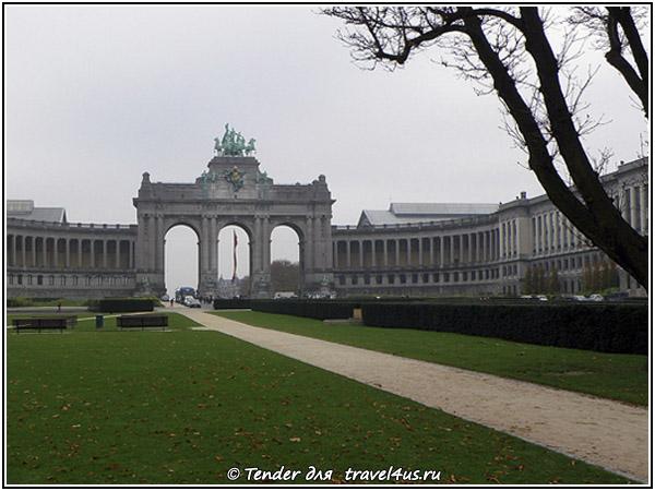 Триумфальная арка - вход в Парк пятидесятилетия в Брюсселе