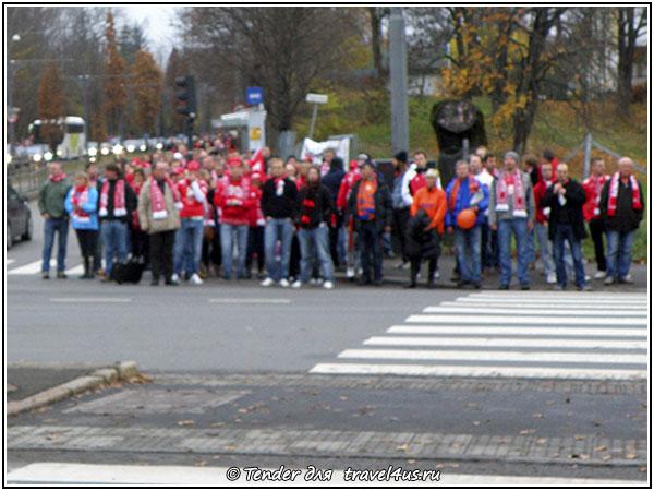Норвежские фанаты в Осло