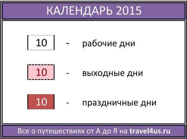Календарь путешественника на 2015 год
