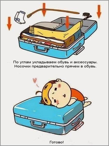 Инструкция «Как собрать чемодан»: шаг 6