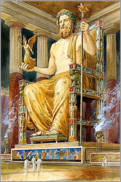 Статуя Зевса в Олимпии — одно из чудес света