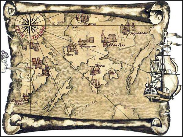 Зурбаган на карте Гринландии