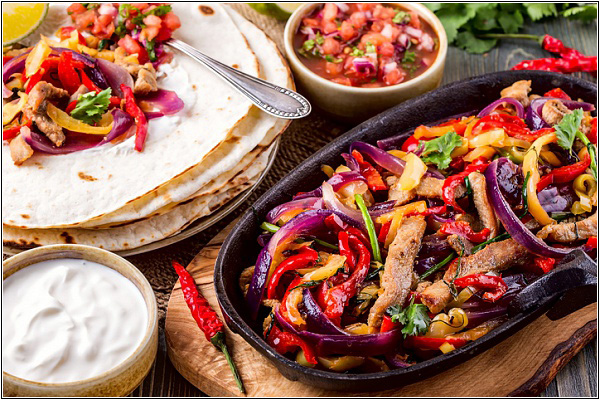 Фахитос — традиционное блюдо мексиканской национальной кухни