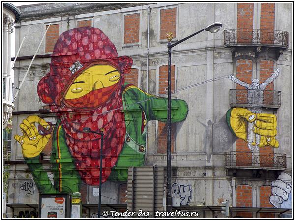 Граффити на улицах Лиссабона