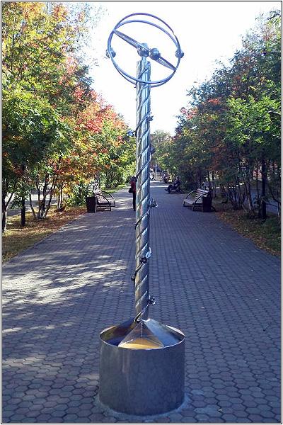 Памятный знак в честь анжеросудженцев-ликвидаторов радиационных аварий и катастроф