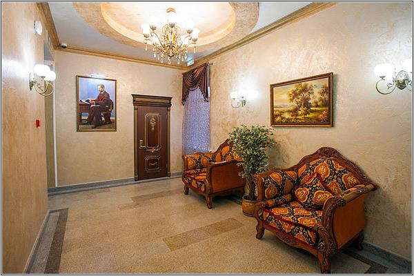 Интерьер отеля Чеховъ