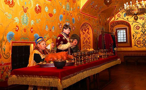 Анимационная программа Русское застолье в Рязанском кремле