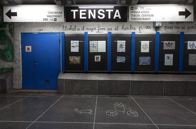 Выставка детских рисунков на станции Tensta