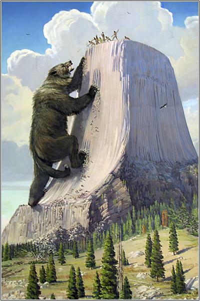Огромный медведь на Башне Дьявола