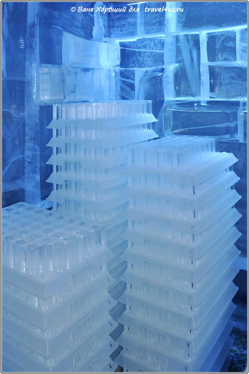 Запас ледяных стаканов
