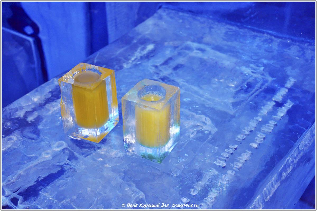 Коктейли в ледяном баре IceBar Stockholm