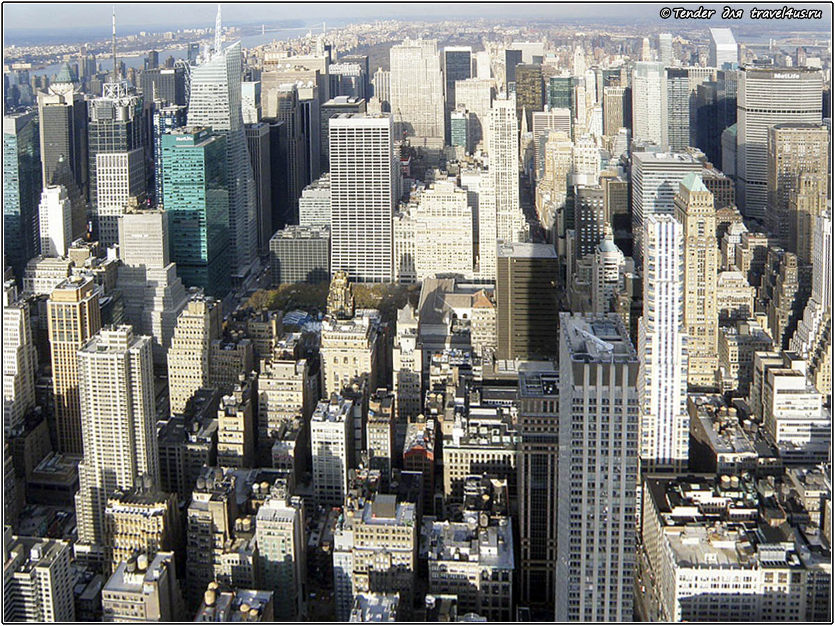 Панорамный вид Нью-Йорка