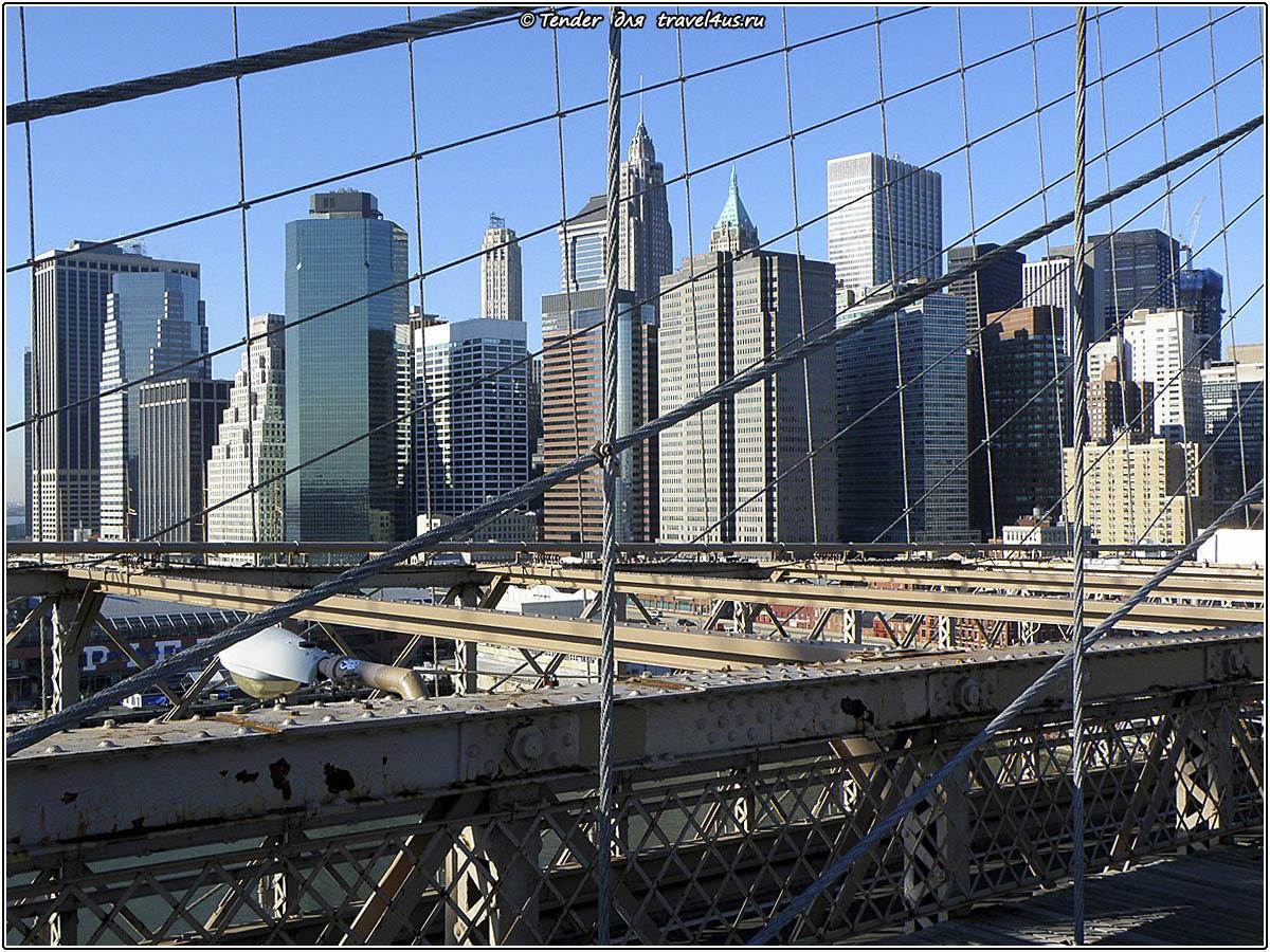 Небоскребы Нью-Йорка за решеткой