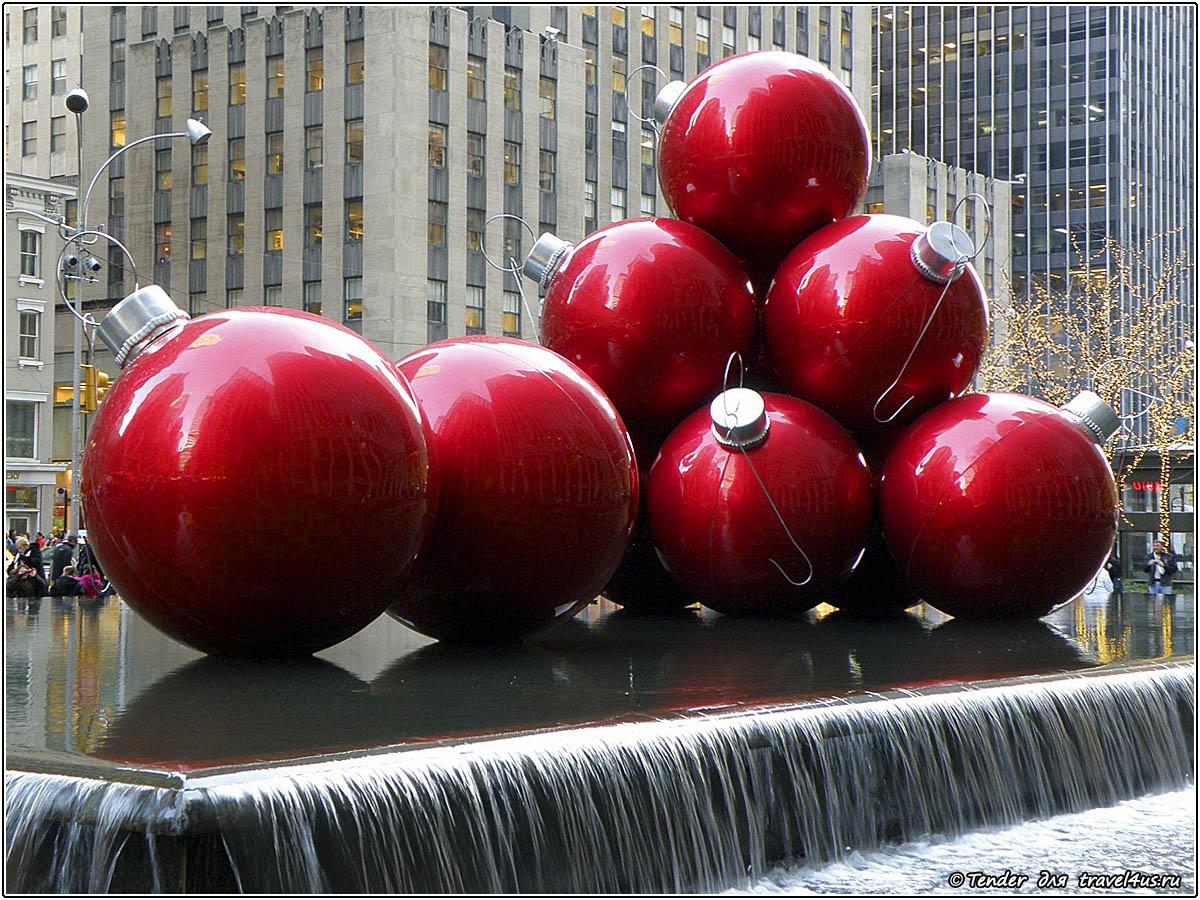 Рождественская инсталляция в Нью-Йорке