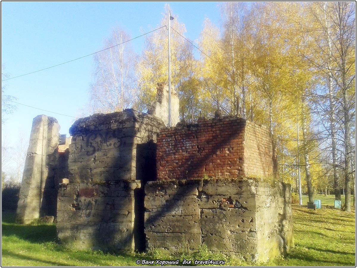 Руины в городе Кириши