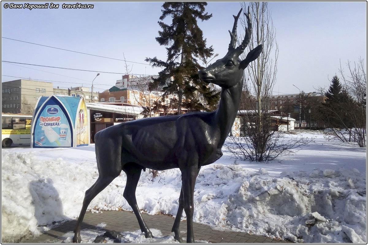Скульптура Олень в Омске