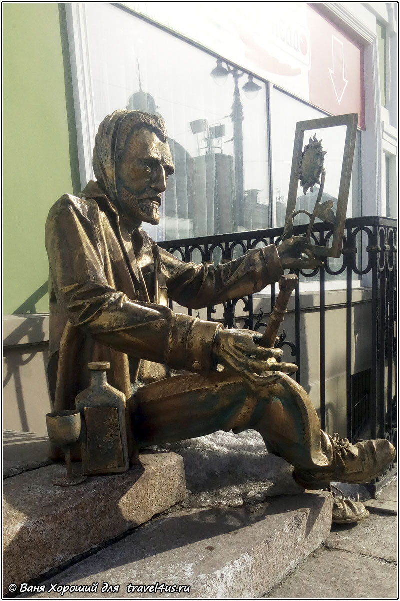 Памятник Винсенту Ван Гогу в Омске