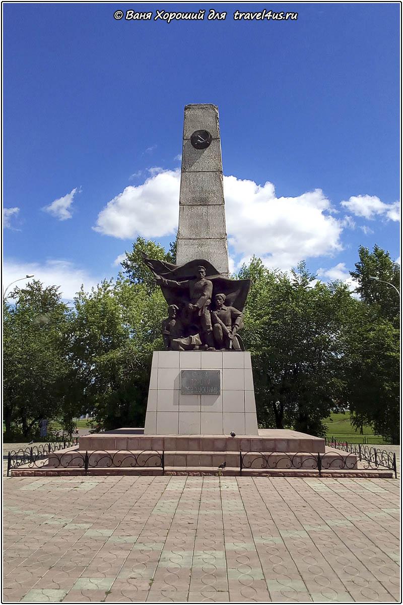 Стела «Слава борцам революции» в Анжеро-Судженске