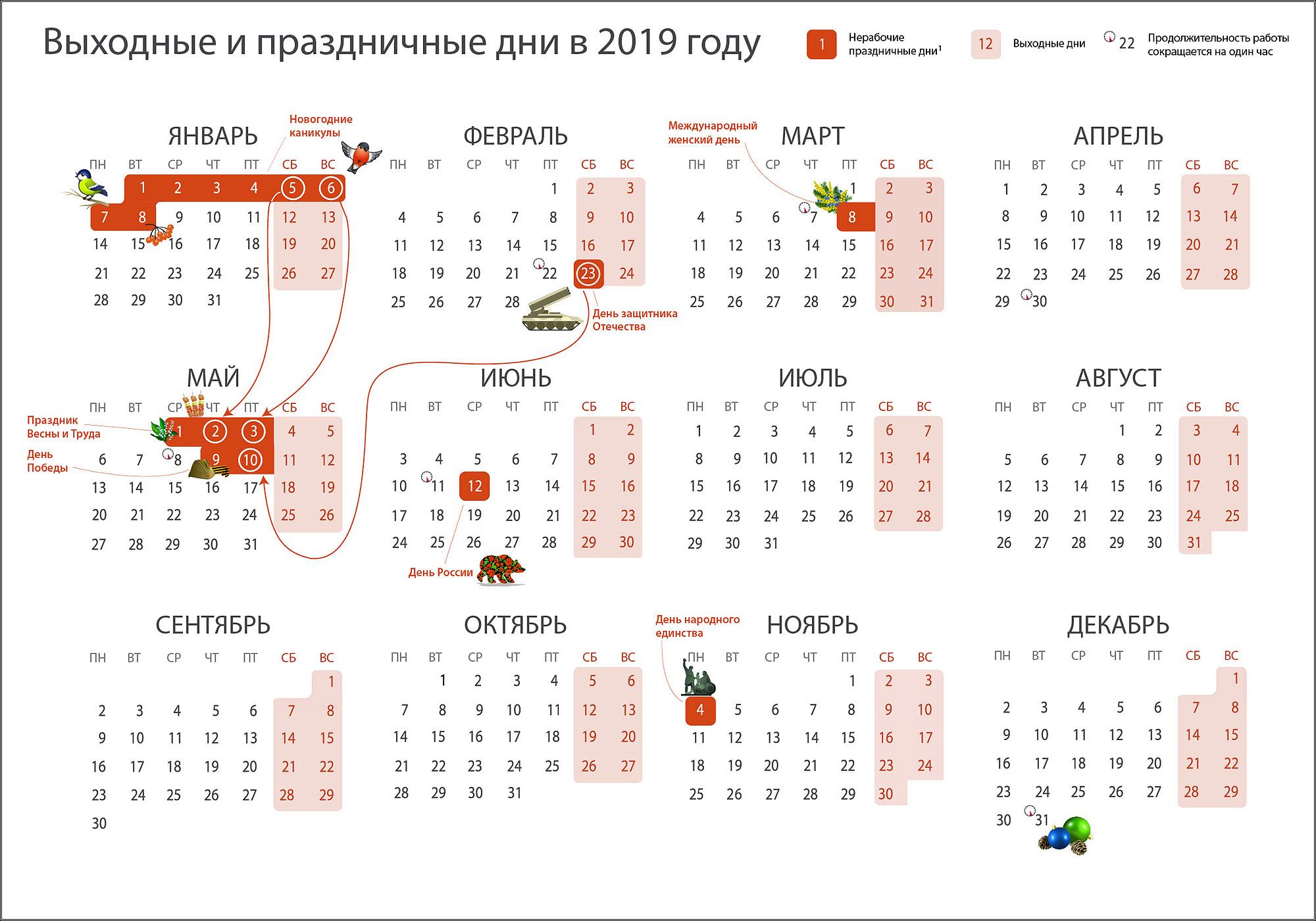 Календарь путешественника на 2019 год